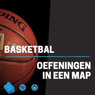 Basketbal oefeningen in een map