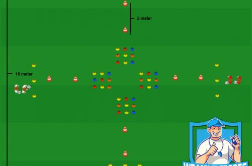 Voetbal oefeningen Rubik's Cube