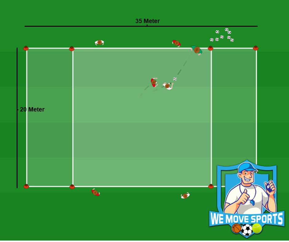 Voetbal oefening