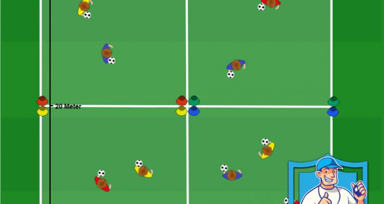 Voetbal oefeningen kleurlingen