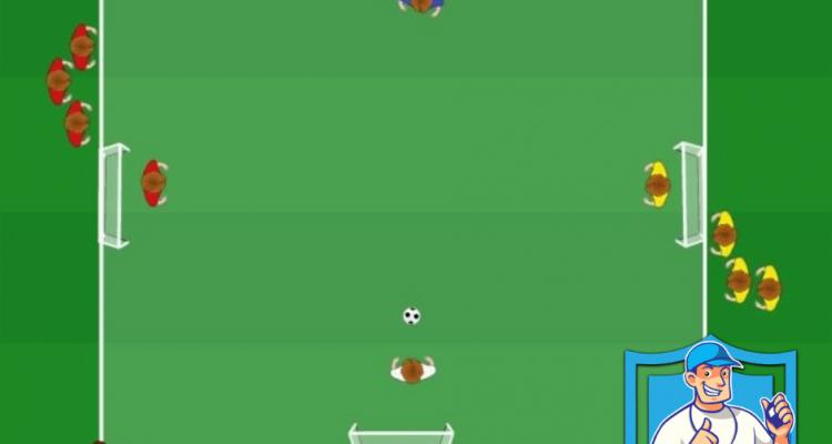 Opbouwend teambal in 4 teams